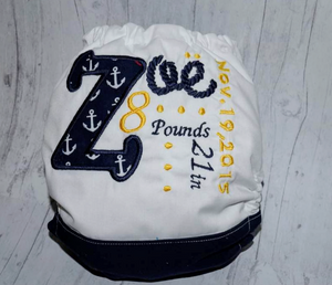 Legacy: Birth Announcement Diaper: Custom Design