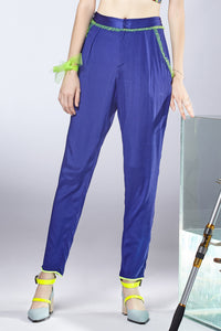 Ruffle Deco. Silk Pants