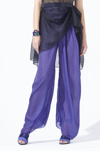 Reversible Double-faced Silk Pants