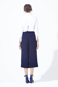 Pleated Ribboning Culottes