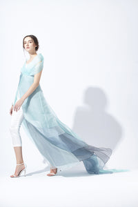 Silk Organza Evening Dress