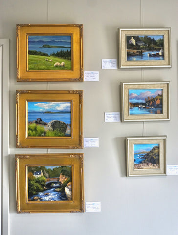 Oil paintings at Glenbarr Stores.