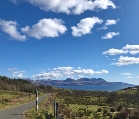 View of Arran from atop Kintyre