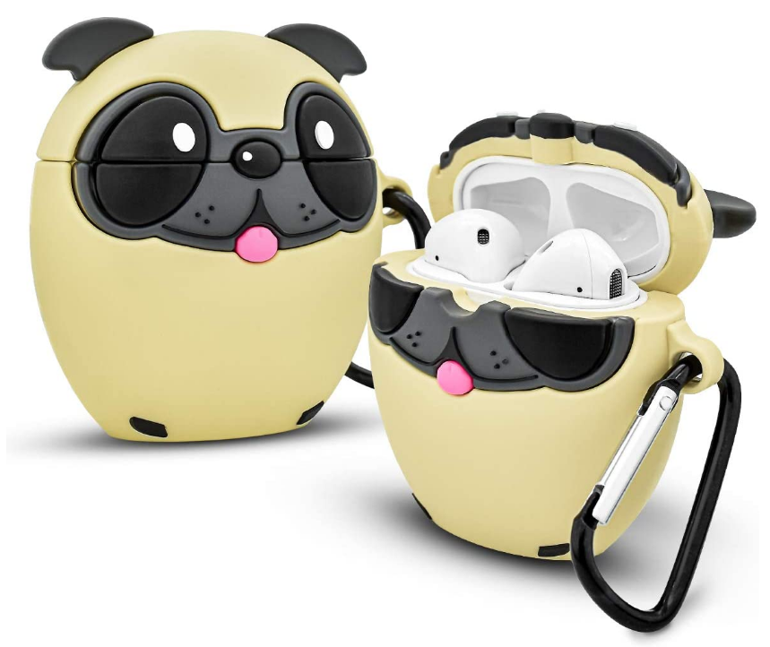 Pug Crazy Pug Dog Airpods Charging Case Cover