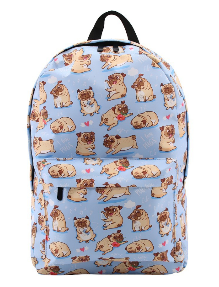Pug Crazy Pug Backpack (Large)