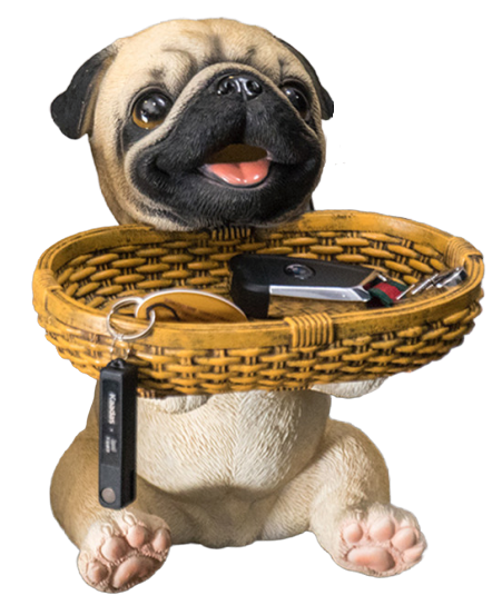 Pug Crazy Pug Statue Figurine Decoration