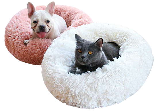 Calming Donut Pet Bed for Dogs or Cats