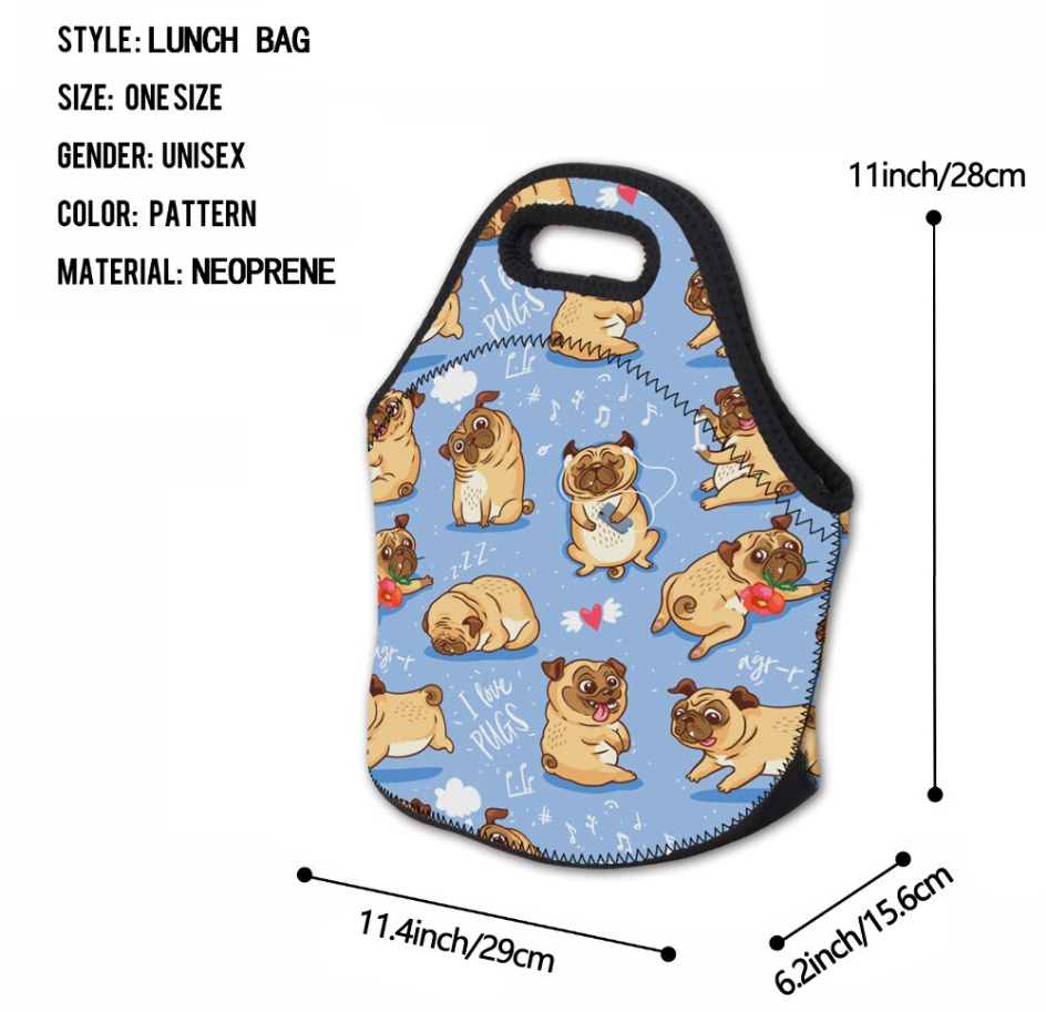 Pug Crazy Pug Lunch Bag