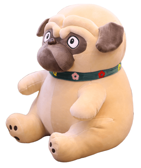 Pug Crazy Pug Teddy Bear Stuffed Animal Toy