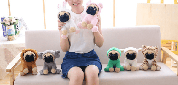 Pug Crazy Pug Plush Teddy Bear Stuffed Animal Toy (Cute Costume)