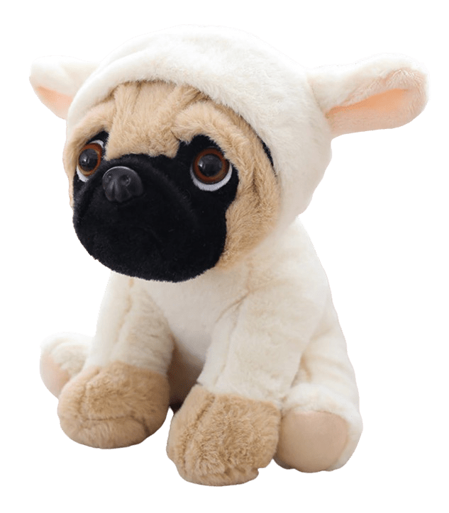 Pug Crazy™ Pug Plush Teddy Bear Stuffed Animal Toy (7 Cute Costumes) - Zolaras