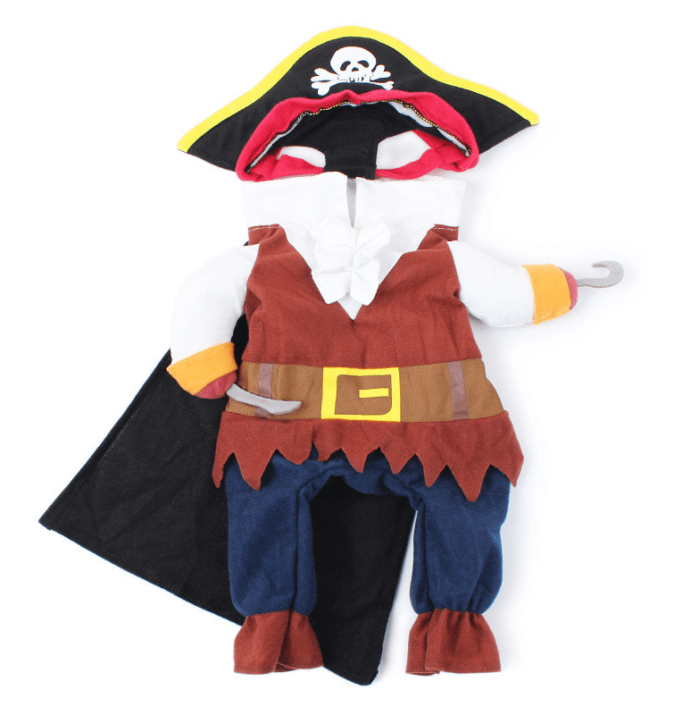 Pug Crazy Dog Pirate Costume
