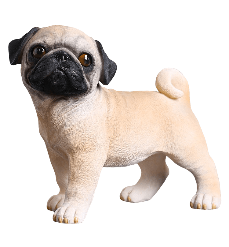 Pug Crazy Pug Statue Model Figurine