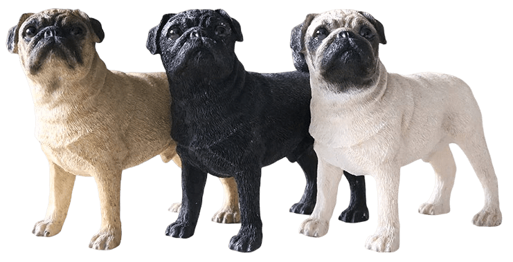 Pug Crazy™ Pug Statue Figurine Collectible