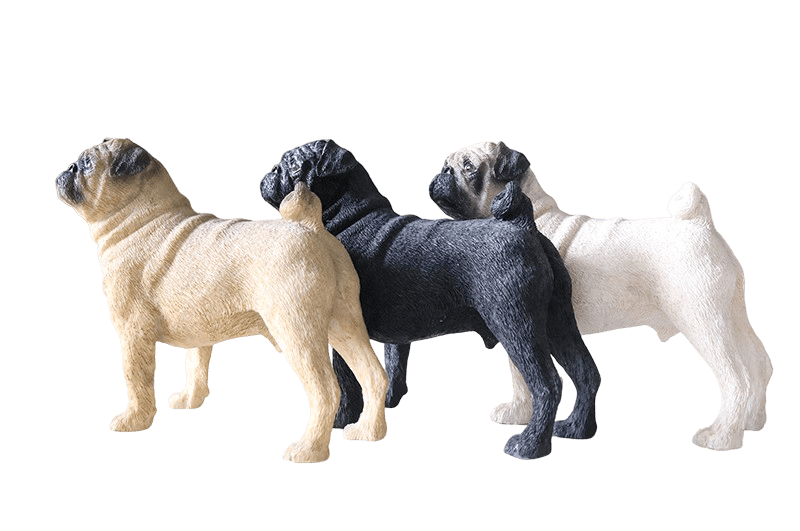Pug Crazy Pug Statue Figurine Collectible