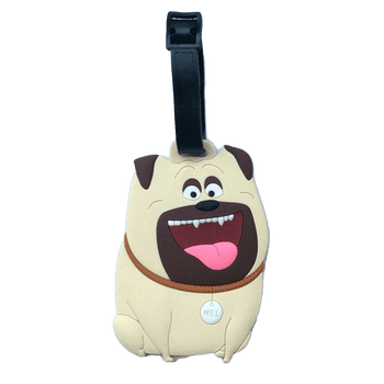 Pug Crazy Pug Luggage Bag ID Tag