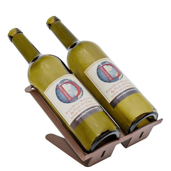 VENETIAN TABLE WINE RACK - 2 BOTTLES - CORTEN - MADE IN ITALY