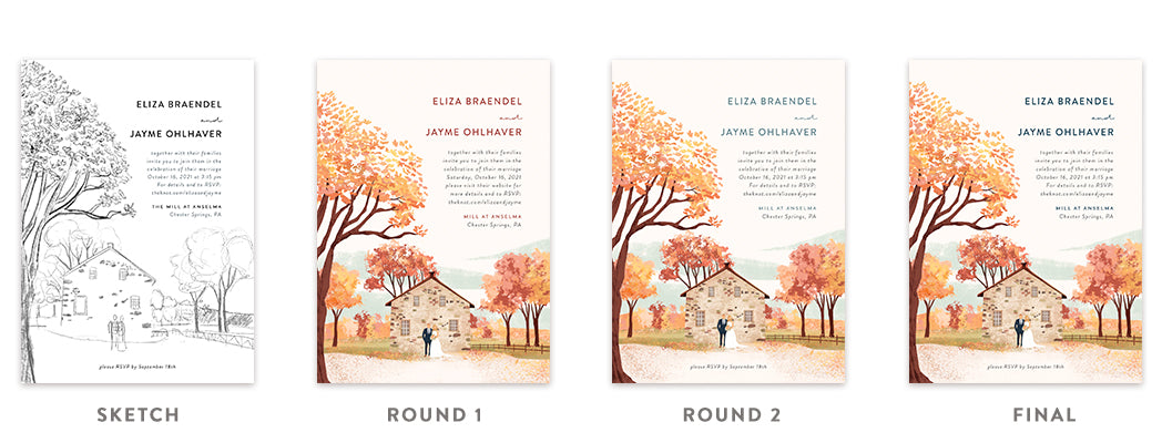Step-by-Step Guide to Custom Illustrated Wedding Invitations