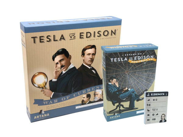 Bundle - Tesla vs. Edison Game | Base Game + Powering Up Expansion + Bonus AI Pack