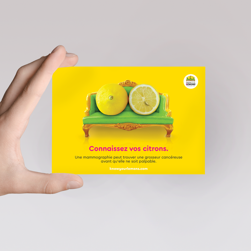 Carte postale Mammographie - Know Your Lemons Breast Cancer Awareness