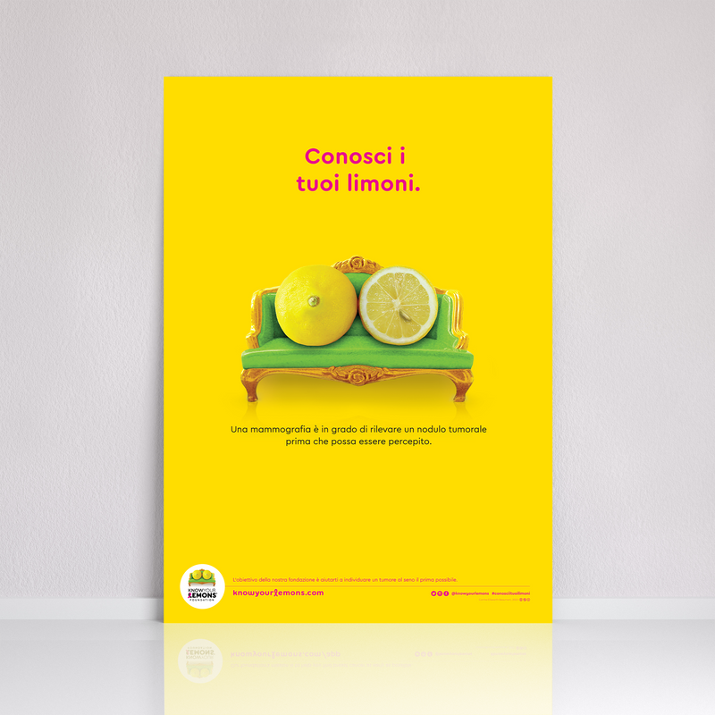 Poster mammografia - Know Your Lemons Breast Cancer Awareness