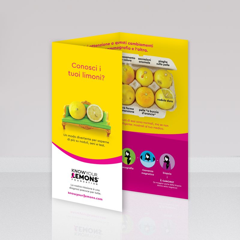 Brochure a tre ante Know Your Lemons - Know Your Lemons Breast Cancer Awareness