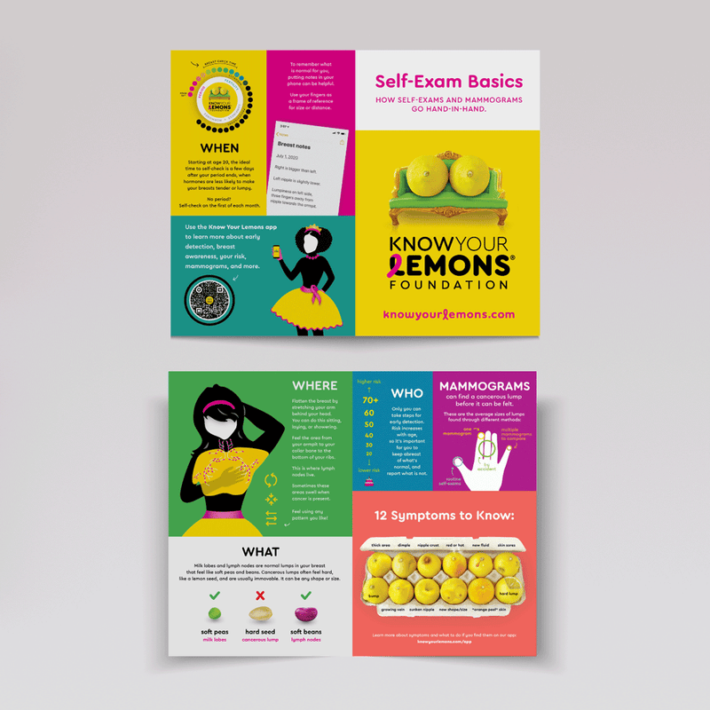 Know Your Lemons Breast Cancer Awareness Retractable Banner Stand Bundle - Know Your Lemons Breast Cancer Awareness