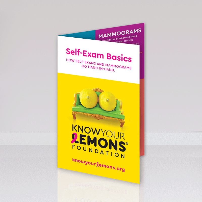 Know Your Lemons Breast Cancer Awareness Self-Exam Card Packs - Know Your Lemons Breast Cancer Awareness
