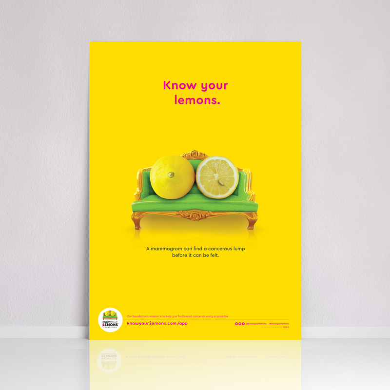 Know Your Lemons Mammogram Poster (UK) - Know Your Lemons Breast Cancer Awareness