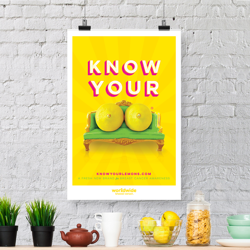 Citrus poster: Know Your Lemons - Know Your Lemons Breast Cancer Awareness