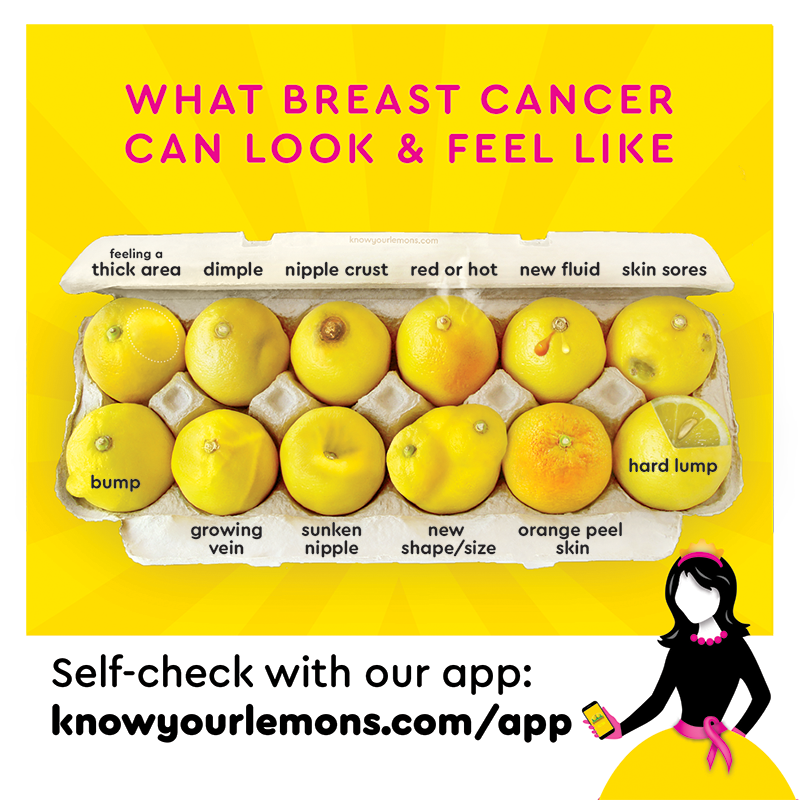 "Self-Exam Mirror Decal (~5x5 in/12x12cm) ""Instant Self-Exam Booth"" - Know Your Lemons Breast Cancer Awareness"