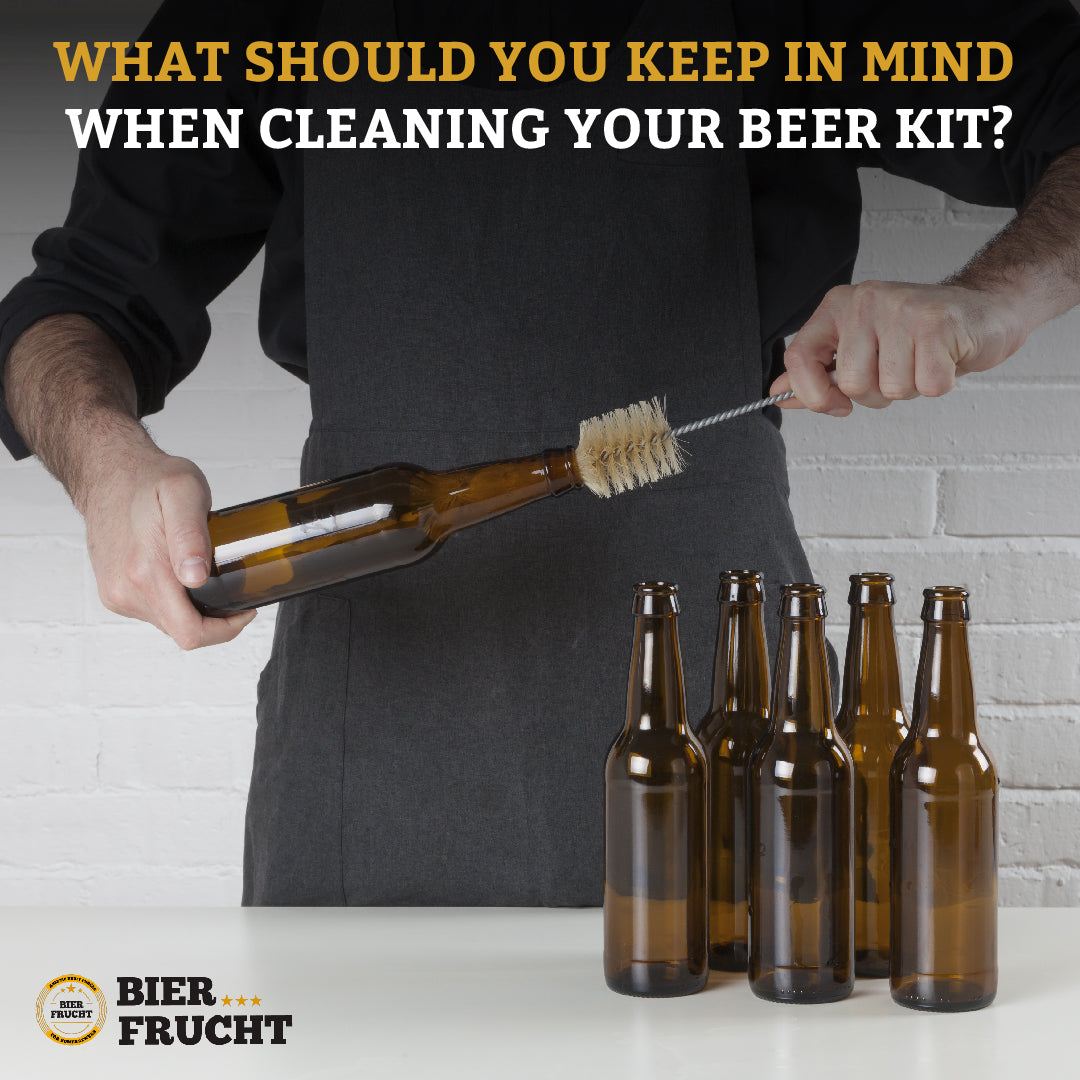 What should you keep in mind when cleaning your beer kit?