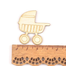 Charger l'image dans la galerie, 10Pcs Wood DIY Accessories Natural Wooden Baby Scrapbooking Crafts Embellishment For Home Decoration 46x50mm MT1977