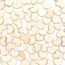 Charger l'image dans la galerie, 100Pcs Wooden Love Hearts Embellishments Handmade Wood Slices Confetti DIY Craft Wedding Gift Favors Table Scatter Party Decor