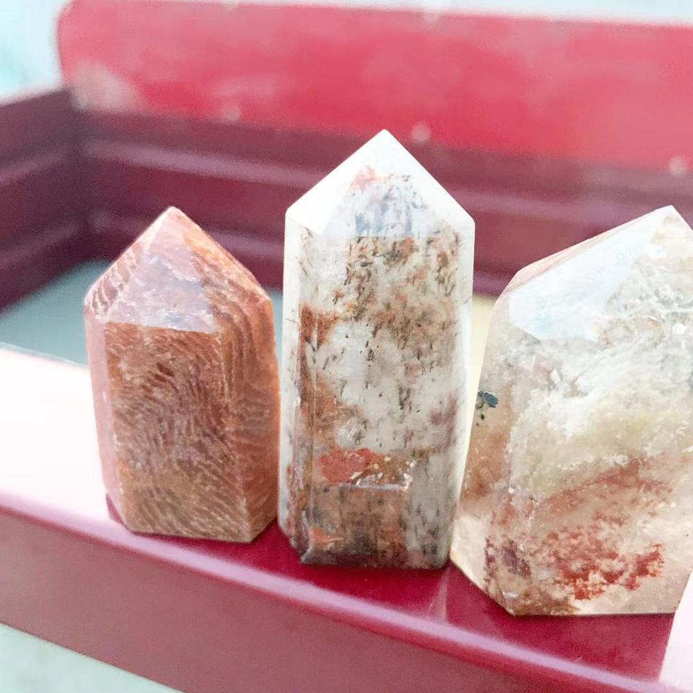 3pc Phantom Himalaya Crystal Stone  thousand into lotus Crystals Wicca Decor Cristal Pierre Naturelle Cristaux Natural Healing G