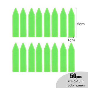 MUCIAKIE 50PCS 5x1cm Succulent Flowers Plant Markers Plastic Waterproof Label Card Garden Seedlings Pin Tags