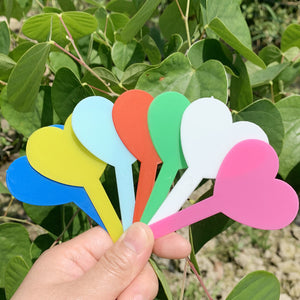 Heart Shape PVC Plant Labels Floral Marker Tag plastic Waterproof Plant Name Brand Garden Supplies Gardening Botany Love Label