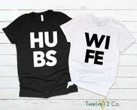 HUBS,WIFE - Couples Set - Twelve13Co