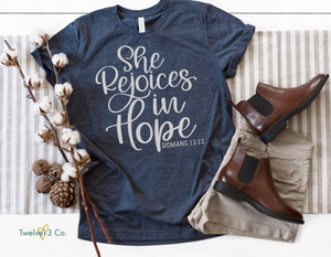 She Rejoices in Hope