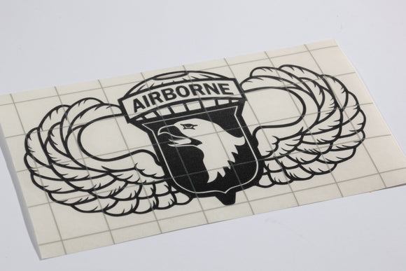 101st Airborne with Wings vinyl decal