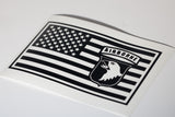101st Airborne in US Flag Vinyl Decal