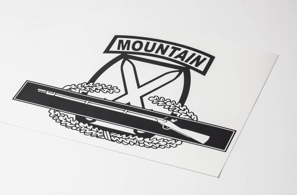 10th Mountain with Combat Infantry Badge (CIB) Vinyl Decal