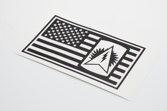 164th Air Defense in US Flag Vinyl Decal