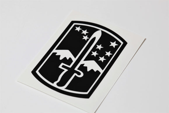 172nd Infantry Brigade vinyl decal