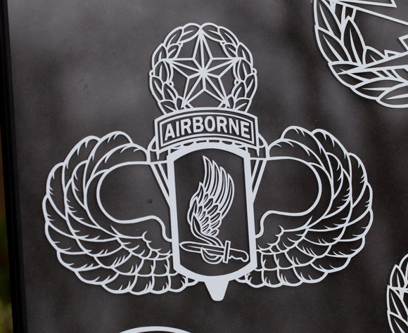 173rd Airborne with Master Wings vinyl decal