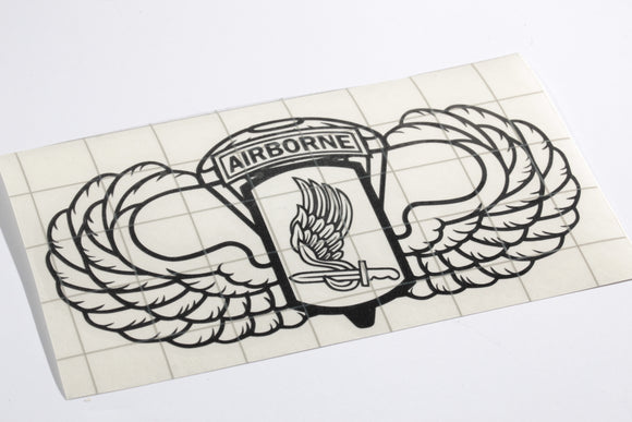 173rd Airborne with Wings vinyl decal