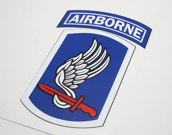 173rd Airborne BCT Full Color Patch Vinyl Decal