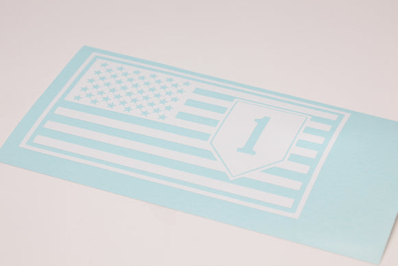 1st Infantry in Flag Vinyl Decal