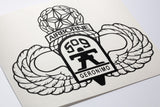 509th Airborne with Master Wings vinyl decal