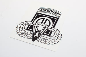 82nd Airborne with Wings and Purple Heart Vinyl Decal